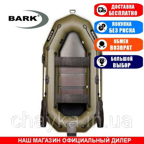 Лодка Bark B-260NPD. Гребная, 2,60м, 2 места, 850/950ПВХ, сдвиж. с-нья, реечное днище, транец, прив. брус. Надувная лодка ПВХ Барк Б-260НПД;