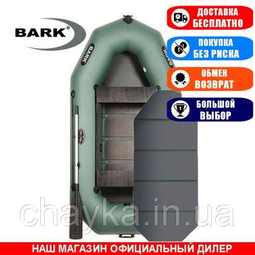 Лодка Bark B-270KD. Гребная, 2,70м, 2 места, 850/950ПВХ, сдвиж. с-нья, сплошное днище. Надувная лодка ПВХ Барк Б-270КД;