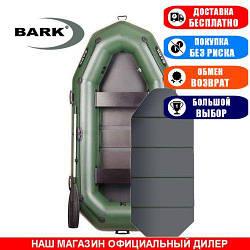 Лодка Bark B-280KP. Гребная, 2,80м, 3 места, 850/950ПВХ, стац. с-нья, сплошное днище, прив. брус. Надувная лодка ПВХ Барк Б-280КП;