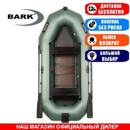 Лодка Bark B-300ND. Гребная, 3,00м, 3 места, 950/950 ПВХ, сдвижные сиденья, реечное днище, навесной транец. Надувная лодка ПВХ Барк Б-300НД;