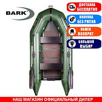 Лодка Bark BT-270. Моторная, 2,70м, 2 места, 1100/1100ПВХ, сдвиж./стац. с-нья, реечное днище. Надувная лодка ПВХ Барк БТ-270;