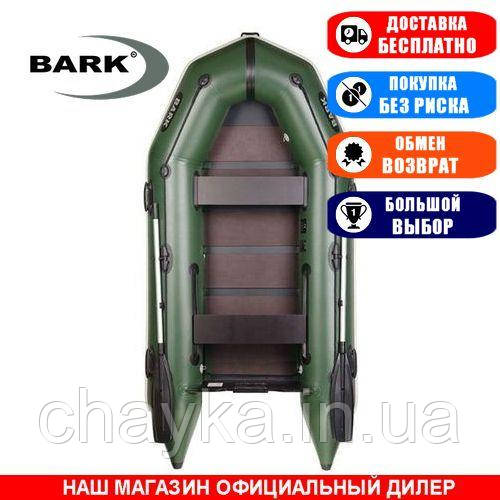 Лодка Bark BT-290. Моторная, 2,90м, 2 места, 1100/1100ПВХ, сдвиж./стац. с-нья, реечное днище. Надувная лодка ПВХ Барк БТ-290;