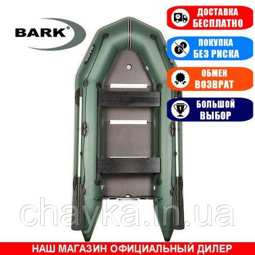 Лодка Bark BT-290SD. Моторная, 2,90м, 2 места, 1100/1100ПВХ, сдвиж. с-нья, жесткое днище, киль. Надувная лодка ПВХ Барк БТ-290СД;