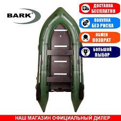 Лодка Bark BN-390S. Моторная, 3,90м, 6 мест, 1100/1100ПВХ, сдвиж. с-нья, жесткое днище, киль. Надувная лодка ПВХ Барк БН-390С;