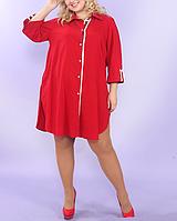 Платье-рубашка с поясом, с 48-98 размеры, фото 1