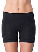 Термо шорты женские с нежной шерстью черные (тёмно-серые)
