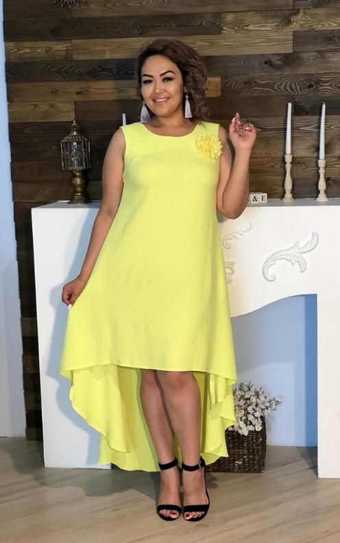 Купить Платье асимметричное без рукавов, разные расцветки с 48-98 размеры 68
