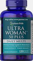 Вітаміни Puritans Pride Ultra Woman 50 daily Plus multi, 120caplets, фото 1