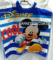 Детское пляжное полотенце пончо с капюшоном Мики маус 2020