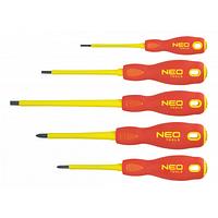 Отвертка NEO шлицевая (1000 В), набор 5 шт (04-220)