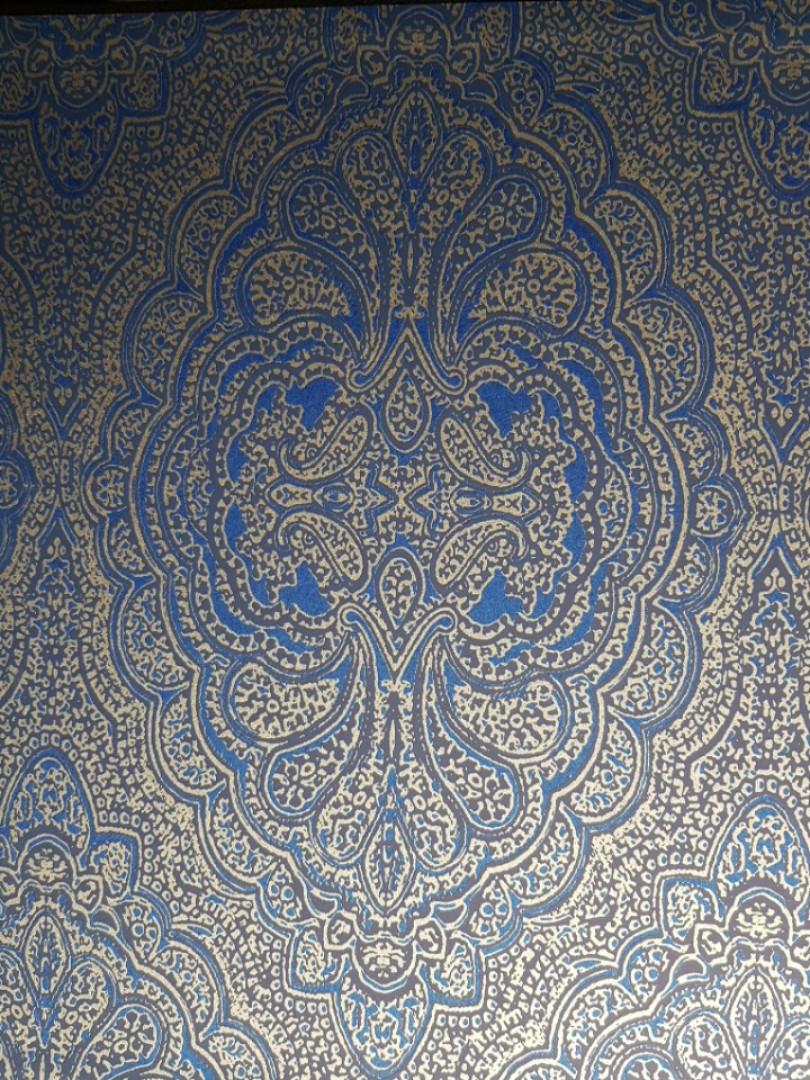 Обои флизелиновые  Khroma AID401 AIDA классические вензеля синие