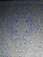 Обои флизелиновые  Khroma AID401 AIDA классические вензеля синие, фото 1