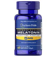 Мелатонин Puritans Pride Melatonin 5mg, 60 softgels