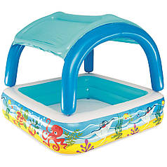 Детский надувной бассейн с навесом сьёмная крыша Bestway 52192