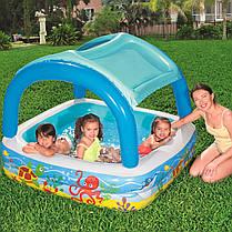 Детский надувной бассейн с навесом сьёмная крыша Bestway 52192, фото 2