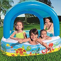 Детский надувной бассейн с навесом сьёмная крыша Bestway 52192, фото 3