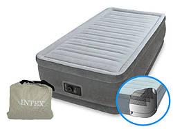 Надувной матрас Intex 64412 одноместный со встроенным насосом