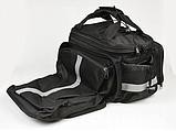 Сумка велосипедная велоштаны на багажник черная, фото 2