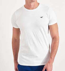Фирменная хлопковая футболка Hollister Muscle белая 324-368-0526-100