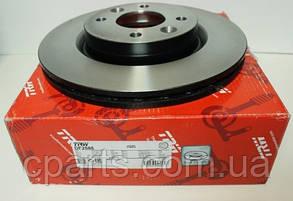Диск гальмівний передній вентильований Dacia Logan MCV (TRW DF2586)(висока якість)