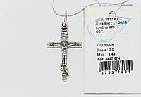 Серебряный крестик 3497-ПЧ
