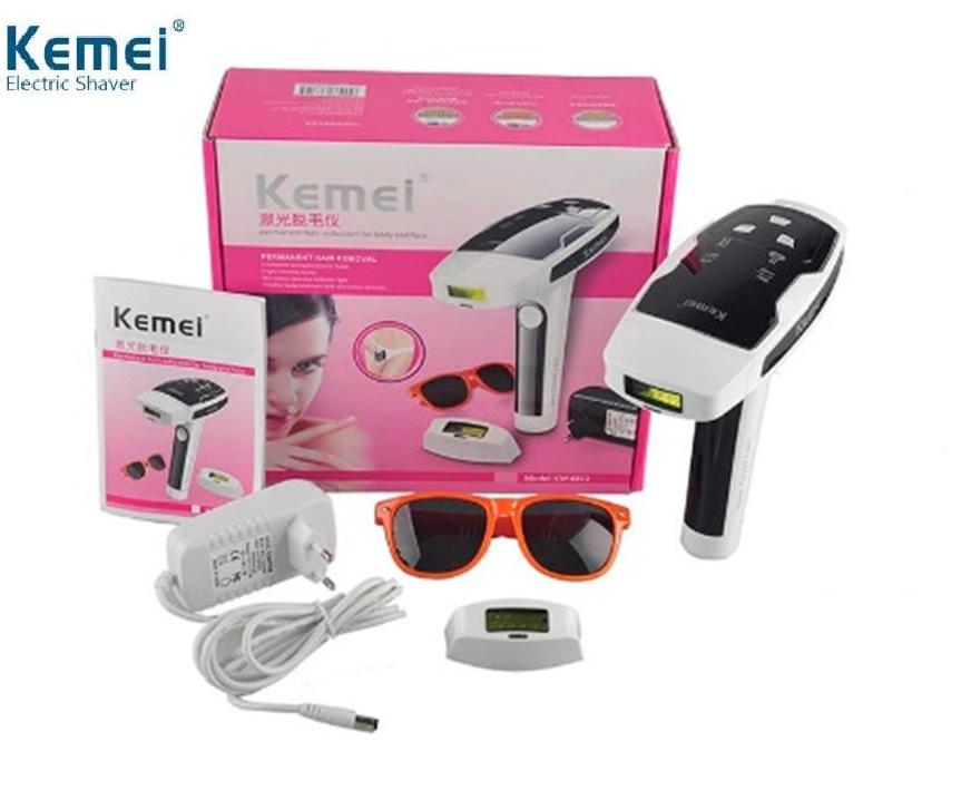 Фотоэпилятор Kemei KM-6812, лазерный эпилятор Kemei KM-6812для лица и тела со съёмными кариджами Фотоэпилятор