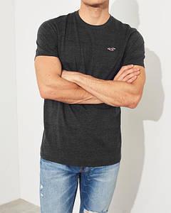 Фирменная хлопковая футболка Hollister Must-Have серая 324-368-0577-902