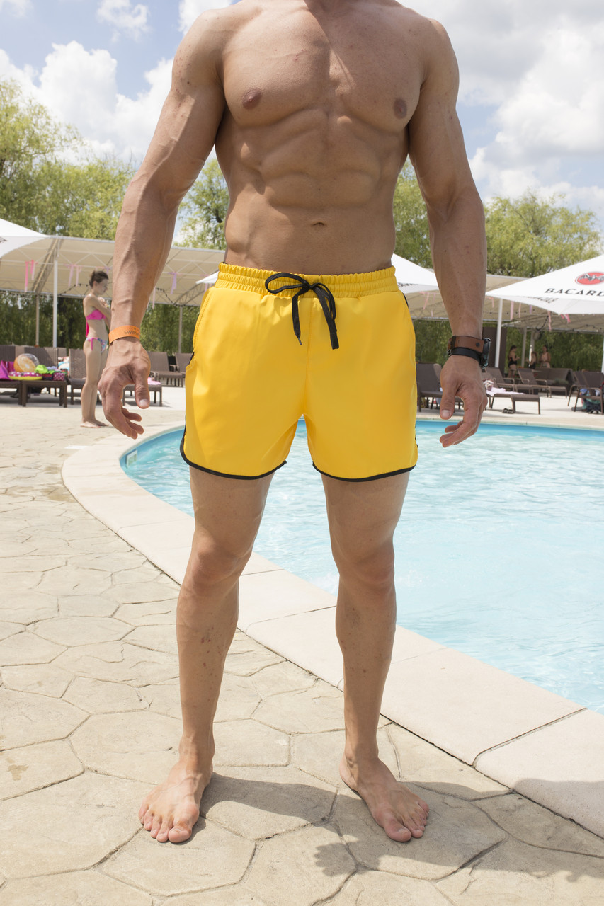 Плавки мужские желтые бренд ТУР модель Кайдзю размер S, M, L, XL,XXL, XXXL