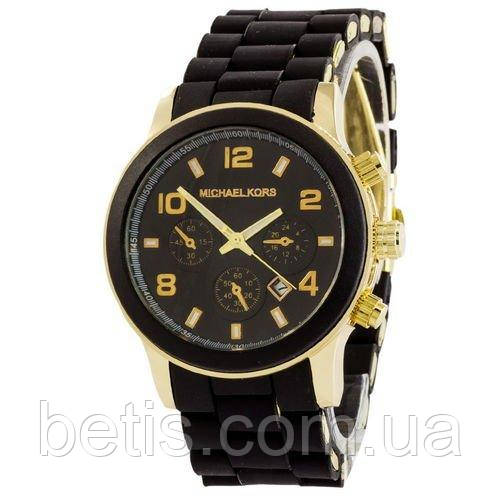 Michael Kors Black-Gold-Black Silicone