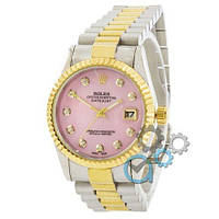 Rolex Date Just Silver-Gold-Pink Pearl