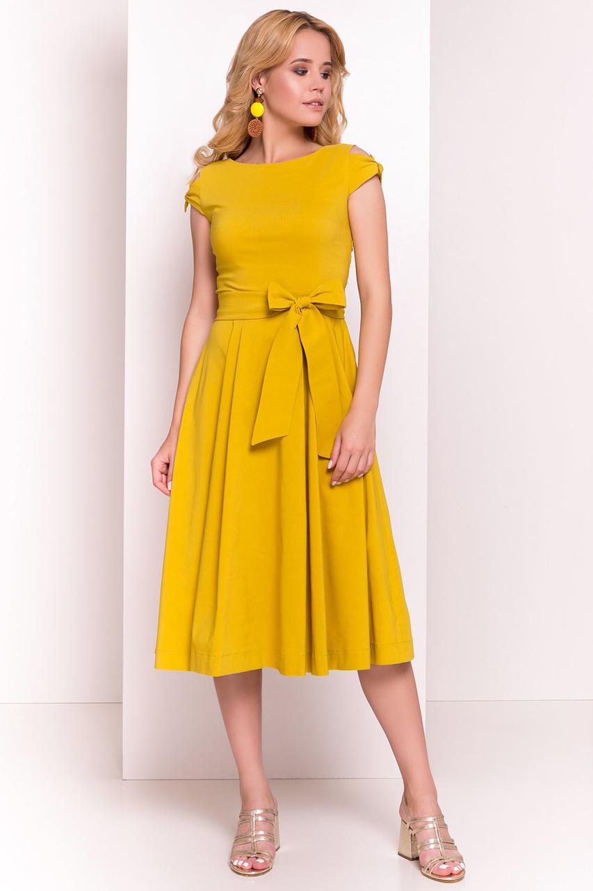 Платье летнее миди Жадор-1 с расклешенной юбкой