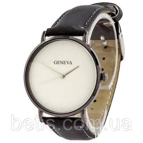 Geneva кожзам черный белый серебро черный