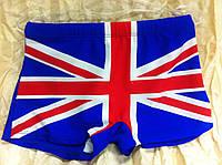 """Шорты ярко-синие для  мальчика рисунок """"Английский  флаг """""""