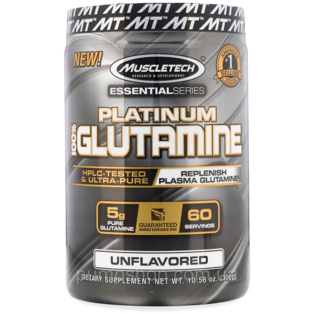 L-Глютамин Muscletech Platinum 100% Glutamine 300 г