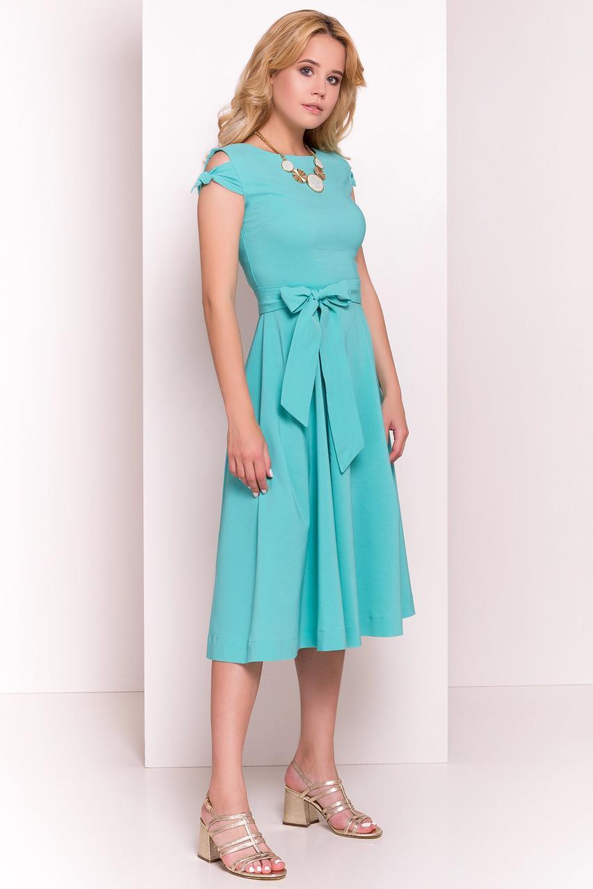 Платье летнее миди Жадор-5 с расклешенной юбкой