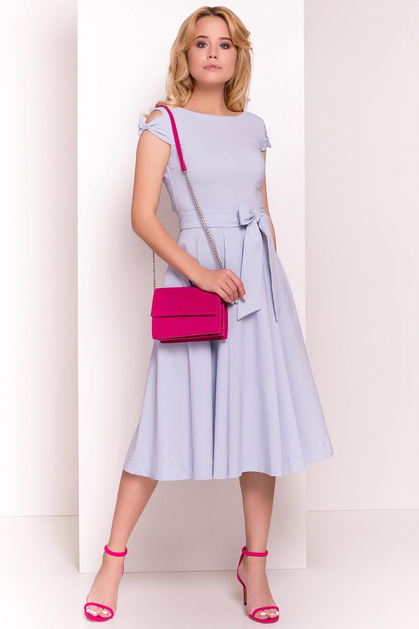Платье летнее миди Жадор-6 с расклешенной юбкой