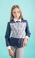 Рубашка Свит блуз  синяя  мод. 7046 р.122