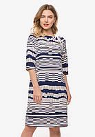 Женское платье больших размеров свободного кроя из трикотажа 90354, фото 1