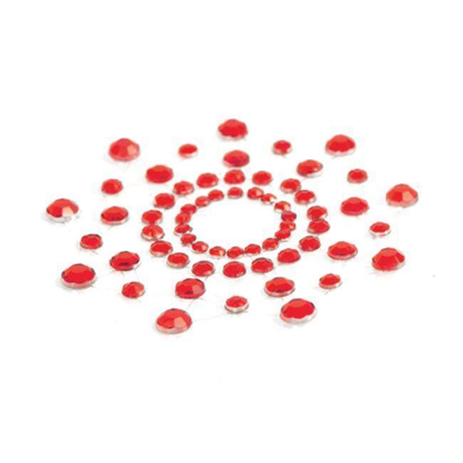 Украшение на соски со стразами Bijoux Indiscrets - Mimi Red Красное