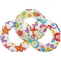 """Надувной круг """"Lively Print Swim Rings"""" Intex, 51см."""