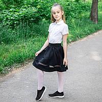 "Юбка нарядная в школу для девочки  ""Дарин"" вставка кружево, фото 1"