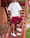 Шорты мужские бордовые бренд ТУР модель Сэм (Sam) размер  L, фото 4