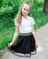 """Юбка на девочку для школы  """"Надин"""" фатиновая, фото 1"""