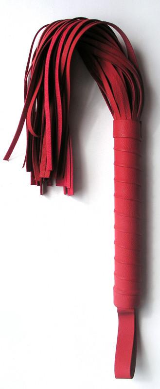 ПЛЕТКА L рукояти 155 мм L хвоста 245 мм, цвет красный, (PVC)