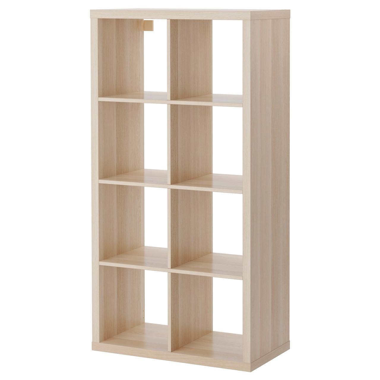 KALLAX Книжный шкаф, под беленый дуб 003.245.18