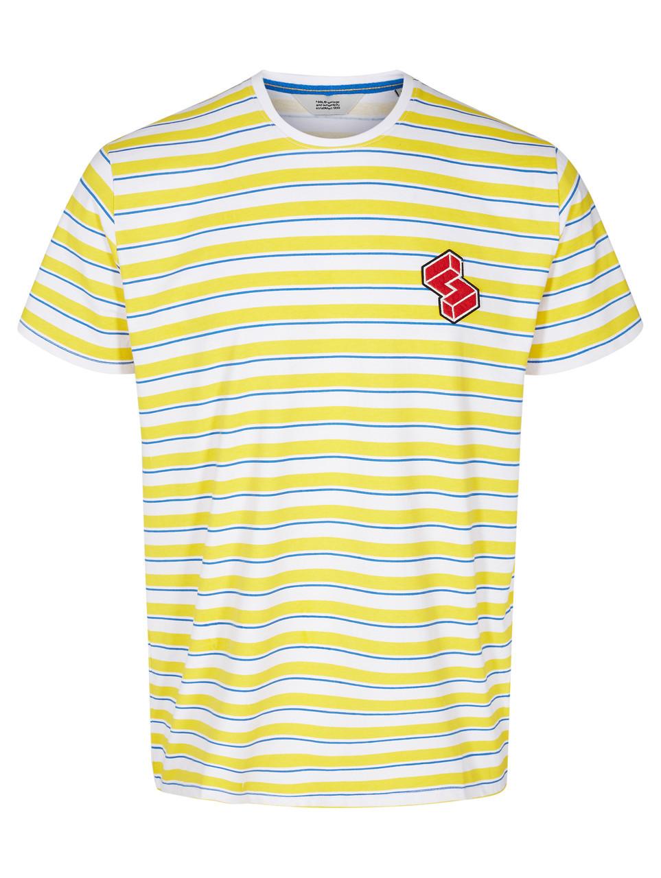 Чоловіча футболка жовтого кольору Berger від Solid Данія в розмірі L