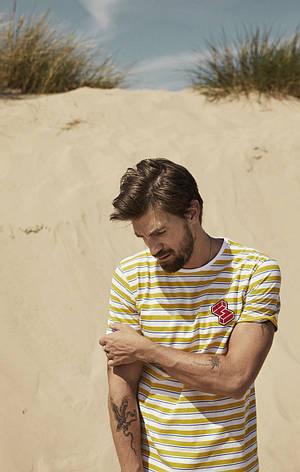 Чоловіча футболка жовтого кольору Berger від Solid Данія в розмірі L, фото 2