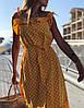 Женский хлопковый сарафан в горошек SM, LXL, фото 9