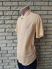 Рубашка мужская летняя коттоновая  брендовая высокого качества WELLDONE, Турция, фото 3