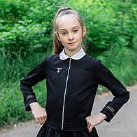 """Школьный пиджак  для девочки """"Дарин-1"""" кружево"""